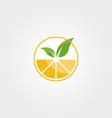 abstract orange juice logo design nature fresh vector image