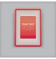 abstract simple red picture frame vector image vector image