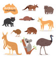 australian animals animalistic character in vector image