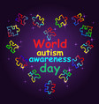 autism awareness month trend lettering multi vector image