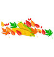 autumn horizontal banner vector image vector image