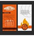 basketball league emblem classic vector image vector image