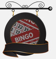 Black bingo cafe sign and banner vector image