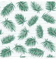 Blue green exotic tropical palm leaves pattern vector image vector image