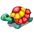 brightly painted figurine of a turtle isolated on vector image
