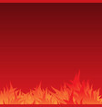 burn flame background vector image