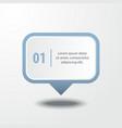 business infographics design element message box vector image