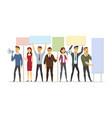 business people on strike - modern cartoon people vector image