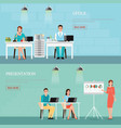 business people talking phone and working vector image