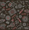 car spare parts seamless pattern vector image vector image