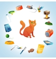 Cat stuff concept vector image vector image