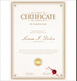 certificate or diploma retro vintage template 01 vector image vector image