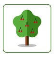 Cherry tree icon vector image vector image