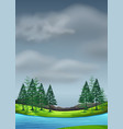 cloudy sky in nature landscape vector image vector image