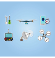 color set with drone icons vector image