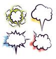 comics book dialog empty clouds vector image vector image