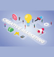 creative marketing team people business concept vector image vector image
