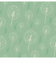 Dandelion seamless pattern on a pastel background vector image vector image