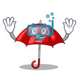 diving red umbrellas isolated in a mascot vector image
