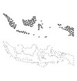 dotted contour map of indonesia vector image