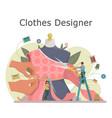 fashion or clothes designer concept vector image