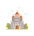 Flat cartoon medieval stone castle isolated vector image vector image