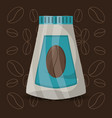 flat coffee jar over beans icons vector image vector image