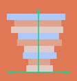 flat icon on stylish background 3d chart vector image