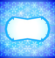 Frozen frame with snowflakes vector image vector image