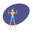 girl engaged in exercise therapy with dumbbells vector image vector image