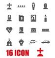 grey funeral icon set vector image vector image