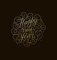 Happy new year - greeting card with hand-lettering vector image vector image