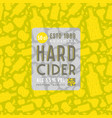 hard cider seamless pattern and label vector image vector image