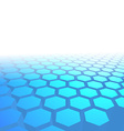 Hexagon tile perspective blue background vector image vector image