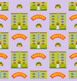 hotels buildings tourist travelers places vacation vector image vector image