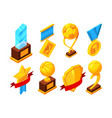 isometric set of sport trophy vector image vector image