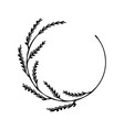 leaf branch round place frame vector image vector image