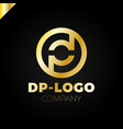 letter d and p logo pd dp initial
