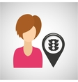 light traffic pointer map girl design icon vector image