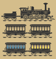Locomotive train vector image