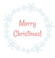 merry christmas winter snowflakes wreath vector image vector image