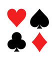 play card symbol suit icon poker heart ace vector image