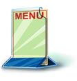 Plexiglas plate menu vector image