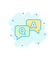 question and answer icon in comic style vector image