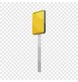 road sign yellow square icon cartoon style vector image vector image