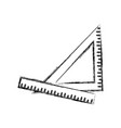 ruler and triangle supply measure geometry vector image
