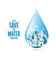save water concept concept eco vector image vector image