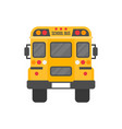 school bus isolated on white background flat vector image vector image