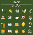 School Education Icons Set Chalk Style vector image
