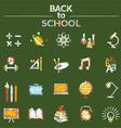 School Education Icons Set Chalk Style vector image